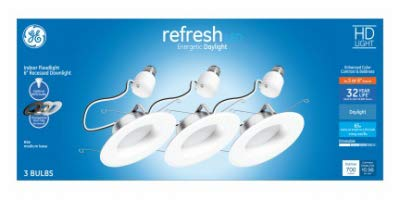G E LIGHTING 47769 リフレッシュ高耐久LED電球 昼光色 9ワット 750ルーメン 2個入り - 数量1   B07LCYK92Z