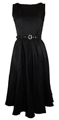 病的法王クリックProm Nightオードリー – ブラックLindy Hop 40年代50年代レトロスイングビンテージスタイルドレス( XXL )