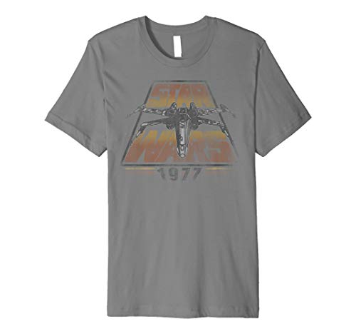 - Star Wars X-Wing 1977 Vintage Retro Premium Graphic T-Shirt