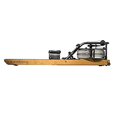 Pure Design Fitness Indoor Rowing Machine - Valor with Dual Rails with Steel Frame, Water Flywheel, and VR2 Monitor from WaterRower