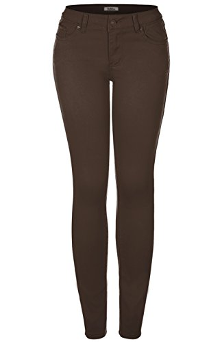 - 2LUV Women's Stretchy 5 Pocket Skinny Jeans Dark Brown 17 (FS611 OR JS-174-51 OR J6169)