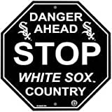 "Chicago White Sox Plastic Stop Sign ""Danger Ahead White Sox Country"""