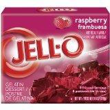 Raspberry Gelatin - JELL-O Jello Gelatin Dessert 3 Ounce Boxes Pack of 4 (Raspberry)
