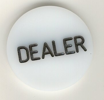 Trademark Poker Acrylic Dealer Button - Engraved Professional Casino Table Accessory for Poker, Texas Hold-Em, Blackjack and Other Card Games ()