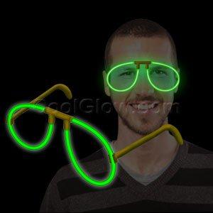 Fun Central P82 Glow in the Dark Eye Glasses - - Eye Dark Glasses
