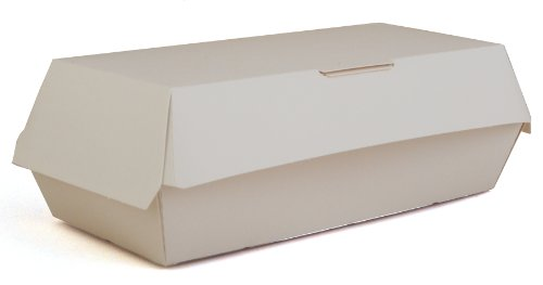 7 Inch Sandwich - Southern Champion Tray 0715 Paperboard White Specialty Sandwich Clamshell Food Container, 7