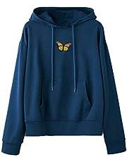 YTZL Hoodie dames oversized lange mouwen capuchon vlinders borduurwerk hoodies vintage pullover tieners meisjes capuchon dunne capuchon dames hoodie hoodie meisjes hoodie heren