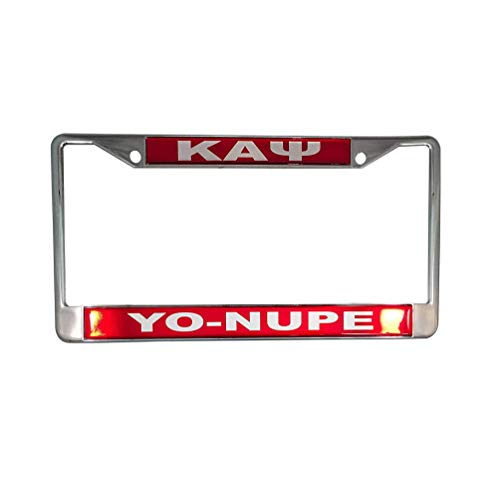Desert Cactus Kappa Alpha Psi Metal or Plastic License Plate Frame for Front Back of Car (Metal - Call Tag) (License Xavier Plate)