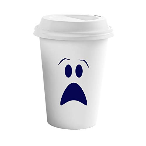 (Navy Ghost Face Halloween Style 1 Ceramic Coffee Tumbler Travel Mug)