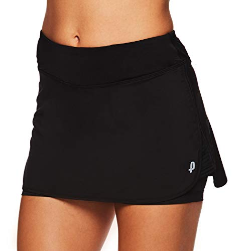 Penn Women's Active Skorts: Wide Band, Low Rise Tennis or Golf Skirt with Shorts,Black,Small