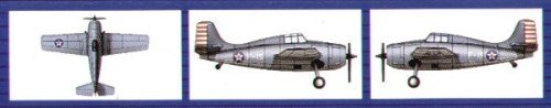 Trumpeter 1/700 F4F4 Wildcat Aircraft Set for USS Hornet, used for sale  Delivered anywhere in USA