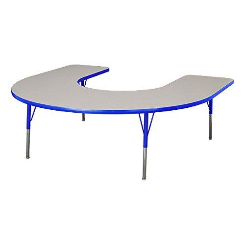 Horseshoe Activity Table (Norwood Commercial Furniture  Adjustable-Height Horseshoe Activity 60