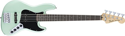 Fender 5 String Deluxe Active Jazz Bass V, Rosewood Fingerboard, Surf Pearl (0143610349) ()