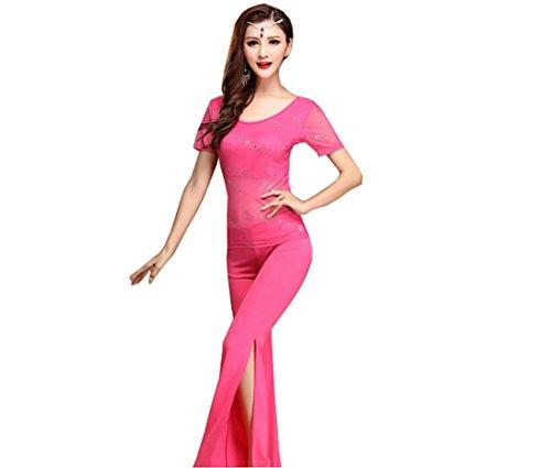 CHAGME - Conjunto deportivo - plisado - para mujer Rosa
