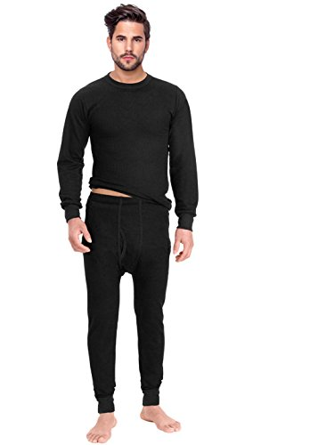 Rocky Men's Thermal 2pc Set Long John Underwear X-Large Black