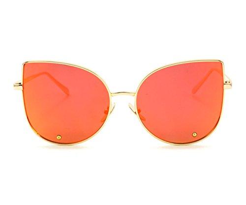 Heartisan Simple Full Mirror Cat Eye Anti-UV Sunglasses for Womens - Miu Lentes Miu