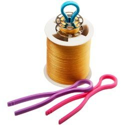 Madiera Threads Bulk Buy (120-Pack) Bobbin Buddies Bobbin/Thread Clip 120pc Display Pink, Purple and Blue DJ137A by Madiera Threads