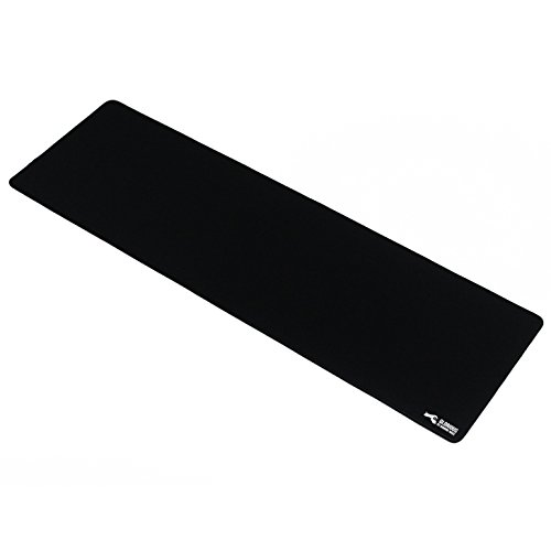 Glorious Extended Gaming Mouse Mat / Pad - XXL Large, Wide (Long) Black Mousepad, Stitched Edges | 36'x11'x0.12' (G-E)