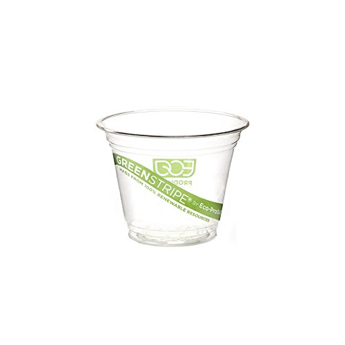 Eco-Products EPCC9SGS GreenStripe Renewable & Compostable Cold Cups - 9oz., 50 Per Pack (Case of 20 Packs)