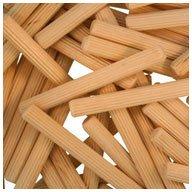 Multi-Groove WIDGETCO 1//4 x 2-1//4 Wood Dowel Pins