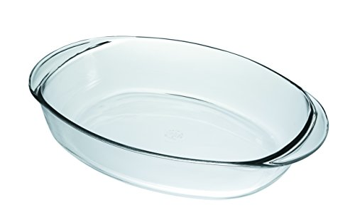 Duralex Made In France Oval Baking Dish, 16 by 11.5-Inch, Clear