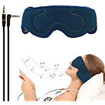 ACOTOP Headphones Sleep Eye Mask with Ultra Thin Speakers, Perfect for Sleep Noise Canceling Headphones, Air Travel, Meditation and Relaxation (Navy Blue) by ACOTop