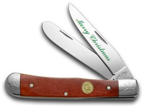 Canal Street CUTLERY CO Merry Christmas Red Bone Trapper 1/100 Pocket Knife Knives (Cutlery Street Canal)