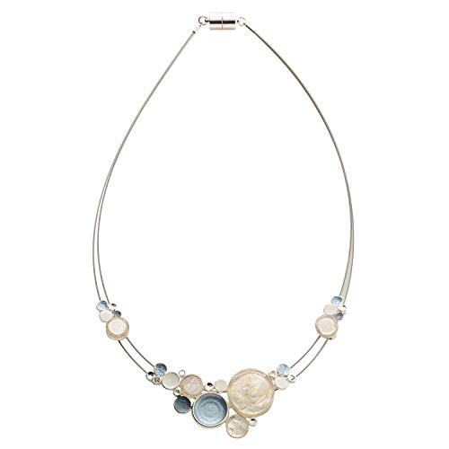 Origin Jewelry Women's Mod Necklace -Capiz Shell Mid Century Modern Retro Design