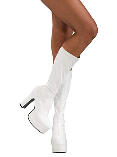Secret Wishes High Heel Platform Costume Boots, White, Medium]()
