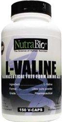 NutraBio L-Valine Free Form 450 Mg - 150 Vegetable Capsules
