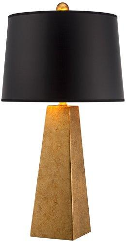 Possini Euro Design Gold Leaf Obelisk Table - Transitional Gold Leaf