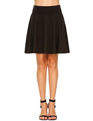 e43bb087cc Zeagoo Women s UPF 50+ Golf Running Workout Swim Tennis Athletic Sports  Skirt with Elastic Waist