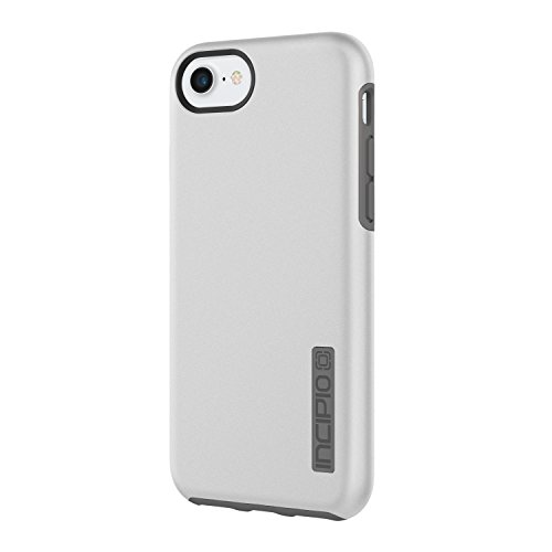 Incipio DualPro iPhone 8 & iPhone 7/6/6s Case with Shock-Absorbing Inner Core & Protective Outer Shell for iPhone 8 & iPhone 7/6/6s - Iridescent Silver/Charcoal