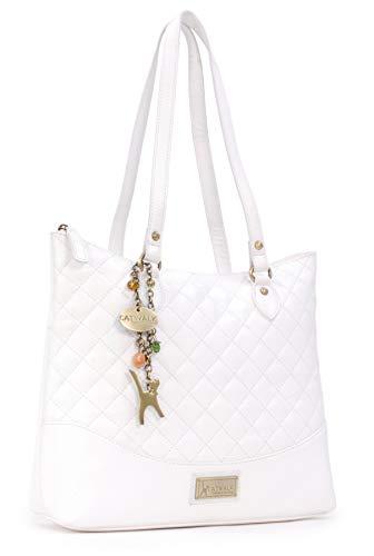 Catwalk Collection Handbags - Gesteppte Leder - Umhängetasche/Tote/Schultertasche - SOFIA