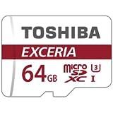 東芝 microSDXC EXCERIA 64GB 90MB/s U3 4K対応 THN-M302R0640 SD変換アダプター付属 Toshiba