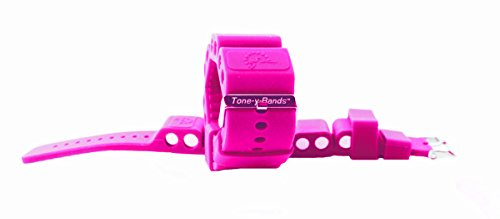 Tone-y-Bands Adjustable 1 LB Wrist Weights & Ankle Weights Set of 2 Workout Bracelet Removable Weighted Pegs Wearable…