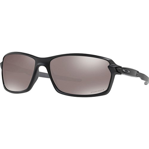 Oakley Men's Carbon Shift Polarized Iridium Rectangular Sunglasses, Matte Black, 62.01 mm