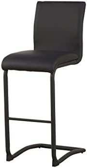 ACME Furniture Gracie Black Faux Leather Counter Height Chair Set of 2