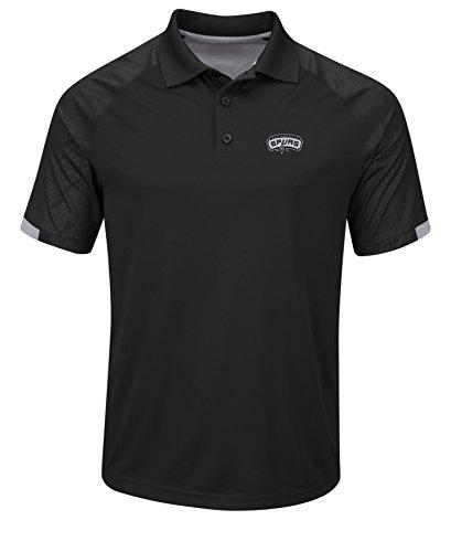 NBA San Antonio Spurs Men's Excitement Synthetic Polo Shirt, Medium, Black/Stone - San Polo Store Antonio