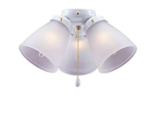 (BOSTON HARBOR CF-3FLK-WH 1271436 Ceiling Fan Light Kit, 190 W, Candelabra, 3, 60 W Lamp, 6-3/4 in H X 12-1/2 in W, White )