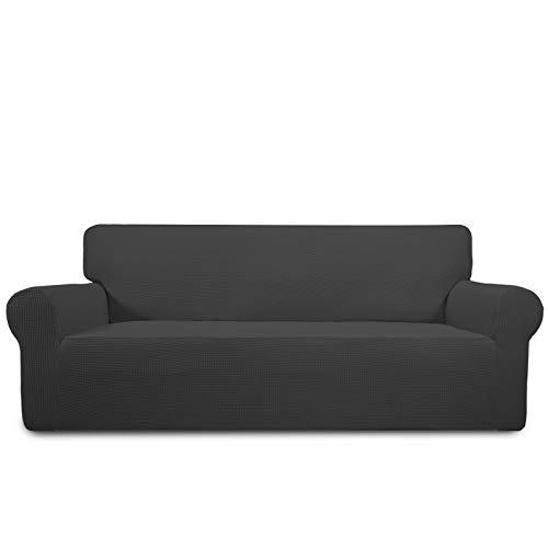 PureFit Stretch Sofa Slipcover – Spandex Jacquard Non Slip Soft Couch Sofa Cover, Washable Furniture Protector with Non…