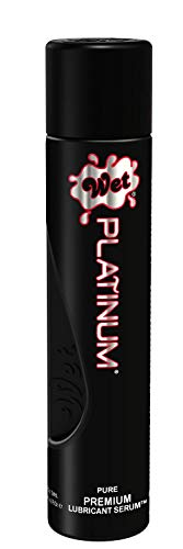 Wet Platinum Lube - Premium Silicone Based Personal Lubricant, 4.2 Ounce (Best Way To Get A Bigger Penis)