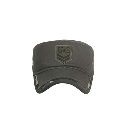 Weilir Solid Flat Brim Hip Hop Adjustable Hat