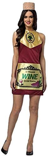 Faerynicethings Adult Size Wine Bottle Costume - Foodie -