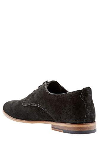 next Hombre Con Cordones Con Suela En Contraste Oficial Formal Zapatos De Vestir Negro