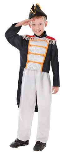 Naval Officer Uniform Costume (Large Boys Colonial Boy Costume)