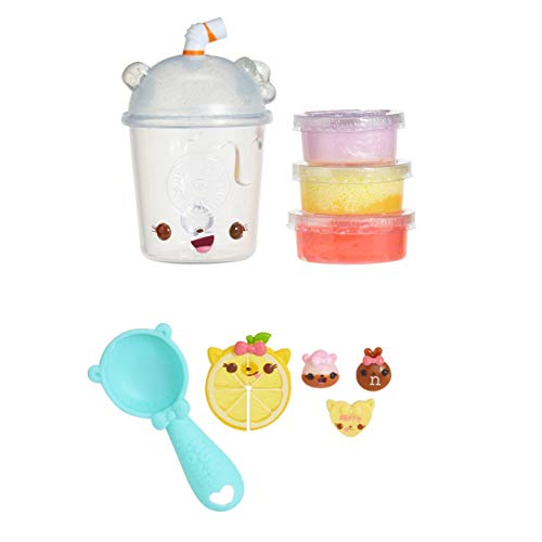 Lemonade Smoothie - Num Noms Snackables Silly Shakes - Strawberry Lemonade Smoothie Slime, Multicolor
