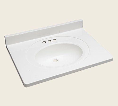 """Dekor Sinks VT31S4-OW 31"""" By 22"""" Vanity Top with Integrat..."""