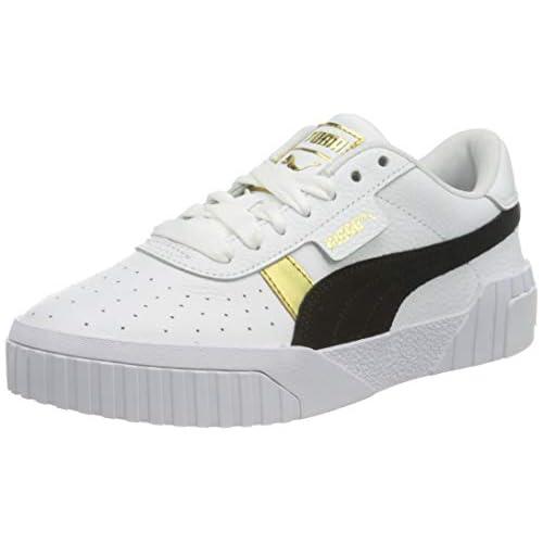 chollos oferta descuentos barato PUMA Cali Varsity Wn S Zapatillas Mujer Blanco White Black Team Gold 40 EU