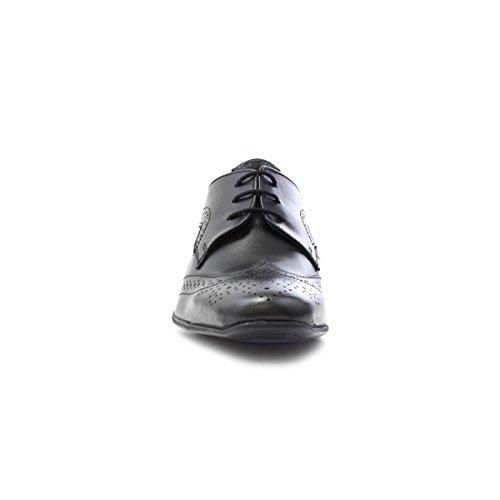 Up Lace Frank Brogue Black Black Leather James Shoe Mens qRxTwSg